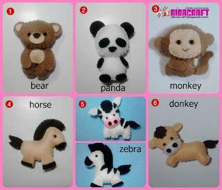 Aplikasi Flanel Keroppi biba craft collection finger puppets boneka jari