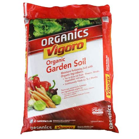 Vigoro Organic Garden Soil by Vigoro 1 Cu Ft Organic Garden Soil 30 Bags 30 Cu Ft
