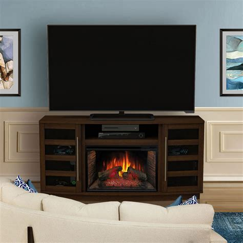 infrared fireplace tv stand harrison infrared electric fireplace tv stand in cherry