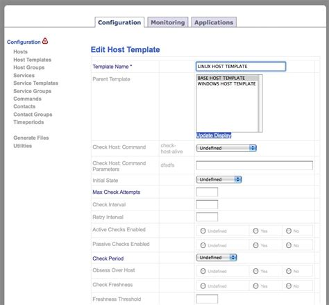 Nagios Host Template nagios web application screenshots alvinalexander