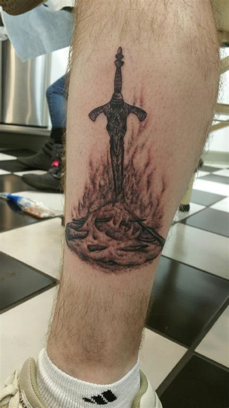 bonfire tattoo souls i just got darksouls