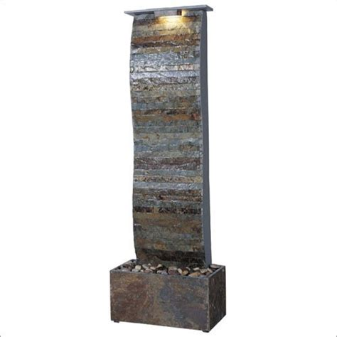 curvature slate floor fountain indoor fountains