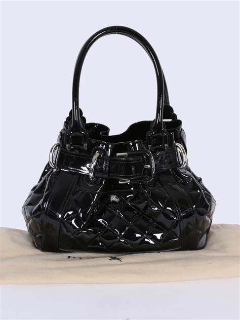 Burberry Quilted Patent Beaton Shopper by Burberry Beaton Patent Leather Quilted Shoulder Bag
