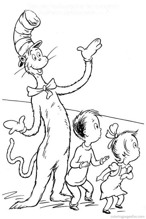 printable coloring pages cat in the hat dr seuss coloring pages free coloring pages for kids 11