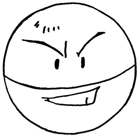 pokemon coloring pages voltorb electrode coloring picture of pokemon 101