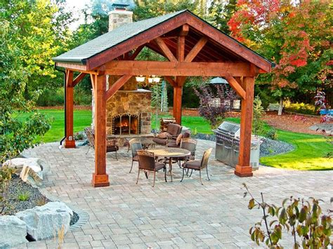 backyard pavilion ideas outdoor pavilion on pinterest