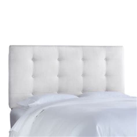 white button headboard buy white tufted headboard from bed bath beyond