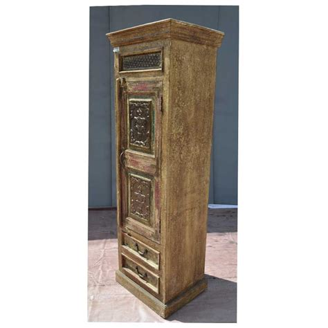 distressed wood armoire antique style rustic reclaimed wood distressed carved