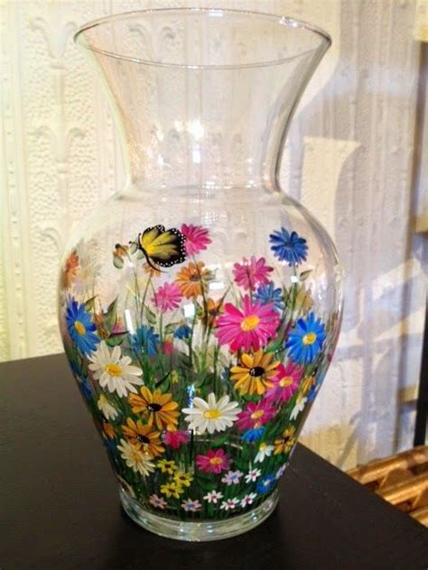 Glass Vase Painting Ideas by 1000 Images About Wine Bottles On Bottle
