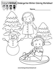 Free Winter Coloring Pages For Kindergarten free printable winter coloring worksheet for kindergarten
