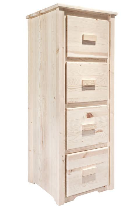 Homestead 4 Drawer File Cabinet   Unfinished