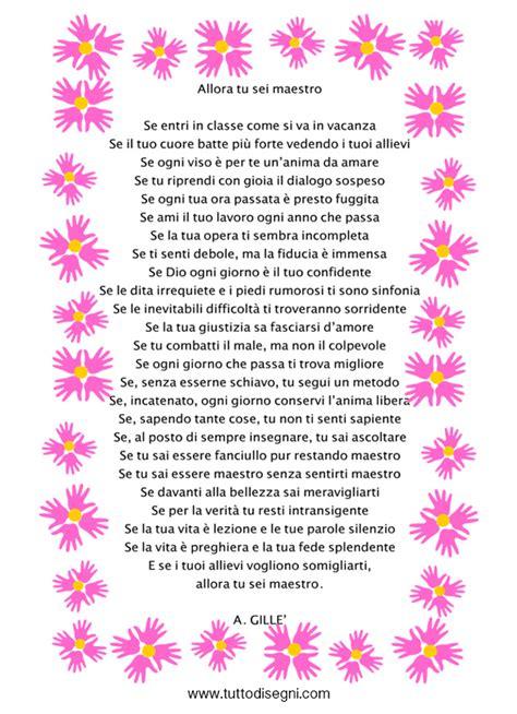rima con fiori poesia per insegnante da stare tuttodisegni