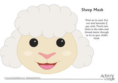 free printable sheep mask template sheep mask