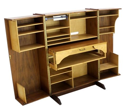 mid century fold out desk mid century modern box fold away desk