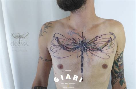 chest dragonfly tattoo by carola deutsch best tattoo