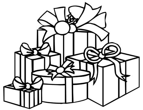 coloring page of a christmas present present coloring pages coloring home