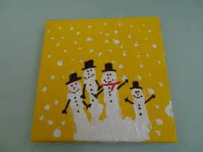 christmas craft handprint snowman family there was a
