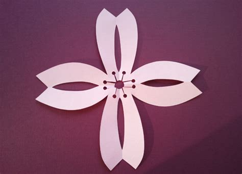 pattern kirigami flower how to make simple kirigami decorations craftscrazy