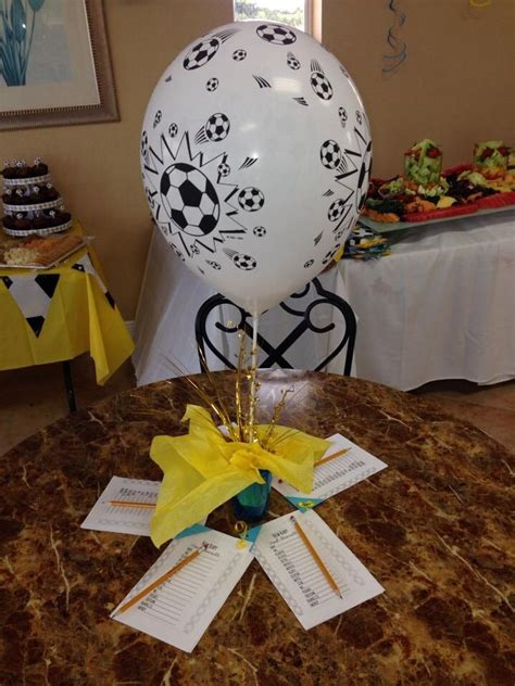 Soccer Themed Baby Shower Ideas baby shower soccer theme centerpiece baby shower