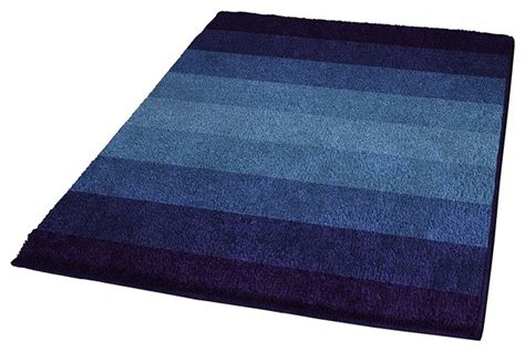Navy Bathroom Rugs Navy Blue Non Slip Washable Bathroom Rug Palace Contemporary Bath Mats By Vita Futura