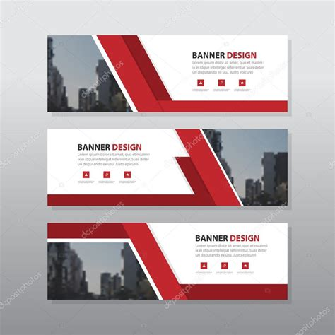 layout de banner gratis red abstract corporate business banner template