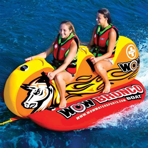 boat water tubes for sale new wow 14 1050 world of watersports water 2 person bronco