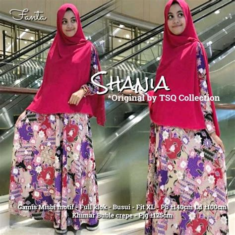 gamis jubah batik in socking pink baju batik gamis
