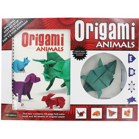 The Complete Book Of Origami Animals - origami animals kit by matthew gardiner spiral bound