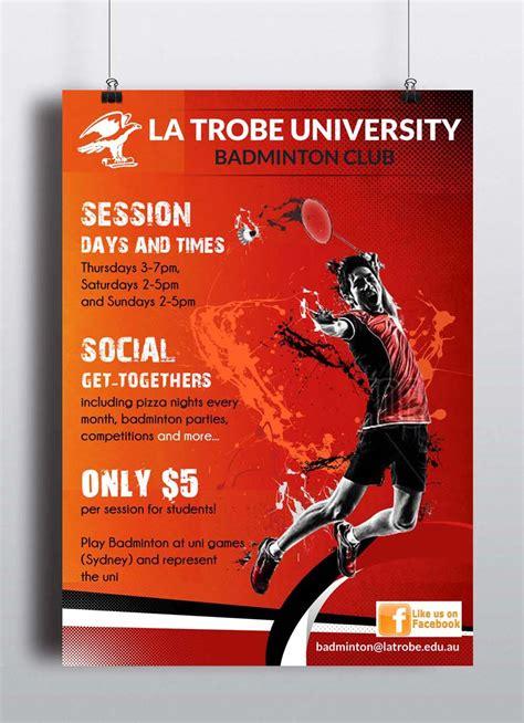 Work From Home Design Jobs Uk poster design for la trobe university badminton club by