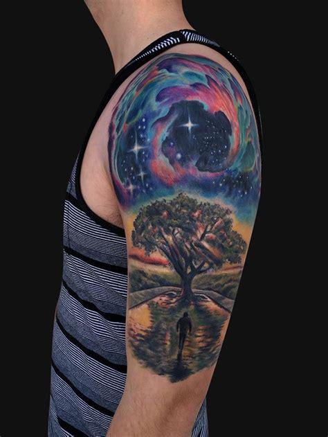 universe tattoo pinterest galaxy tree tattoo google search ink pinterest