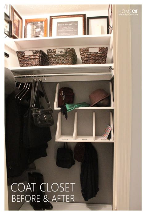 No Coat Closet Solutions by Coat Closet Reveal Home Made By Carmona