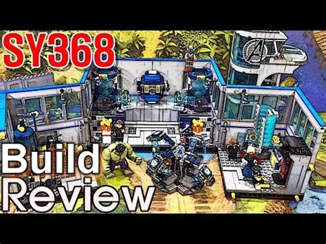 sy 어벤져스 타워 슈퍼히어로 연구소 조립 과정 리뷰 lego knockoff tower lab build review