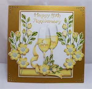 50th wedding anniversary card front cup313403 1446 craftsuprint