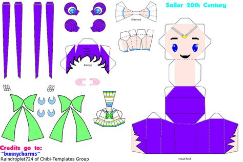 Sailor Moon Papercraft - pin like sailor moon on requested on