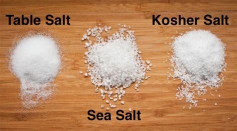 is kosher salt the same as table salt difference between sea salt and kosher salt enkimd