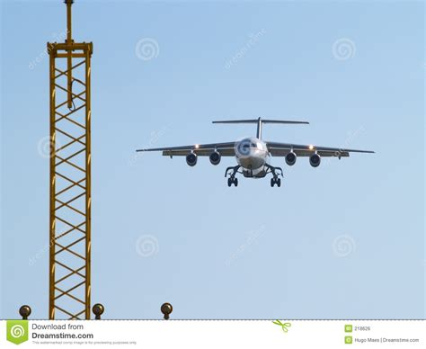 Aircraft Landing Lights by Aircraft Landing And Landing Lights Royalty Free Stock Image Image 218626