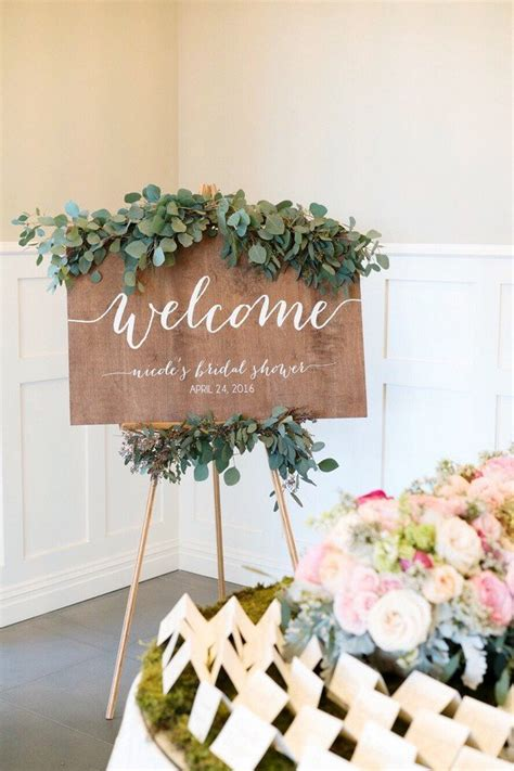 Wedding Shower Theme Ideas by 15 Chic Greenery Wedding Signs For 2018 Trends Oh Best