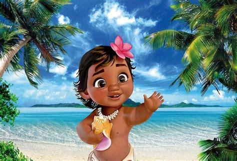 xft baby moana vaiana palm tree blue sea view custom