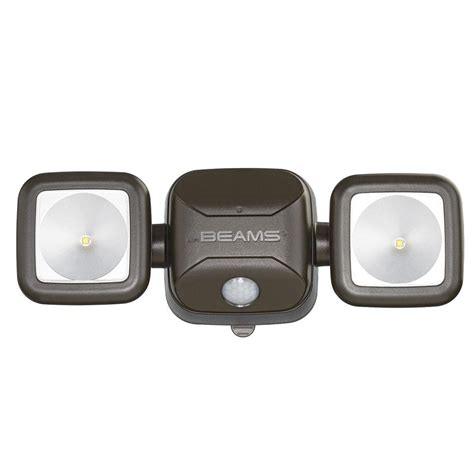 wireless led outdoor flood lights mr beams wireless 140 degree bronze motion activated