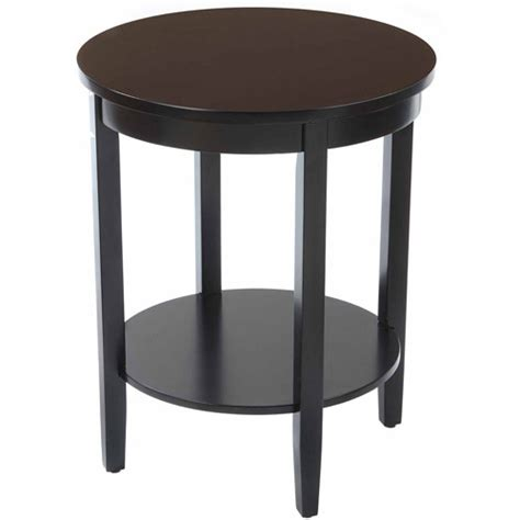 round end table with drawers better homes and gardens round accent table with drawer