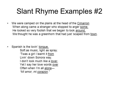 rhyme and meter in poetry ppt