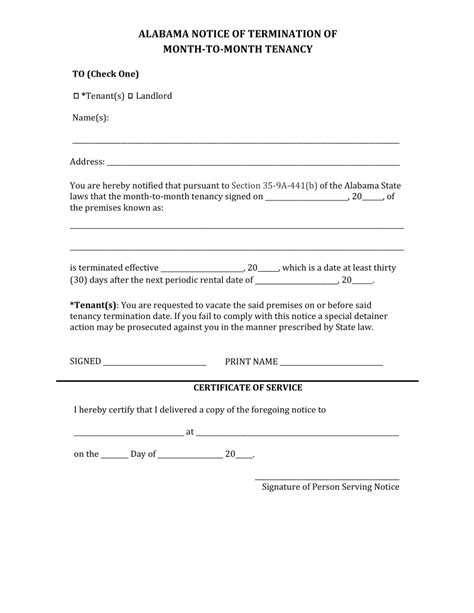 Lease Termination Agreement Template Free doc 460595 notice of termination of tenancy letter