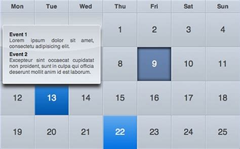 css calendar tutorial create ical like calendars with css and jquery web