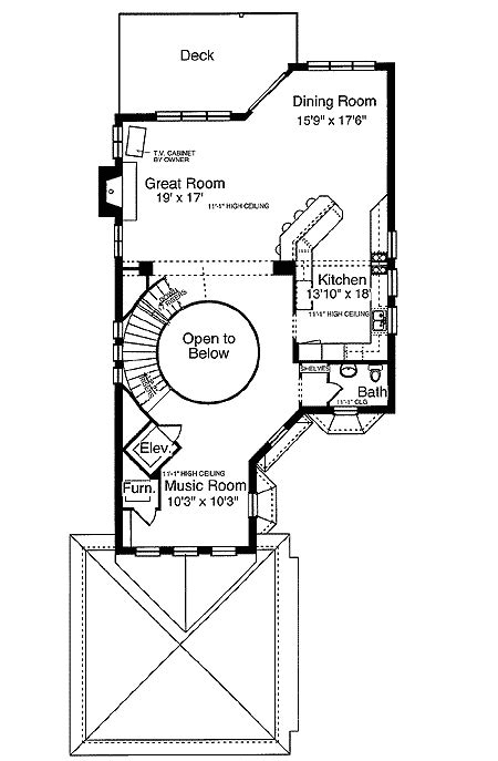 escalator floor plan european retreat with elevator 39144st 1st floor master suite den office library study