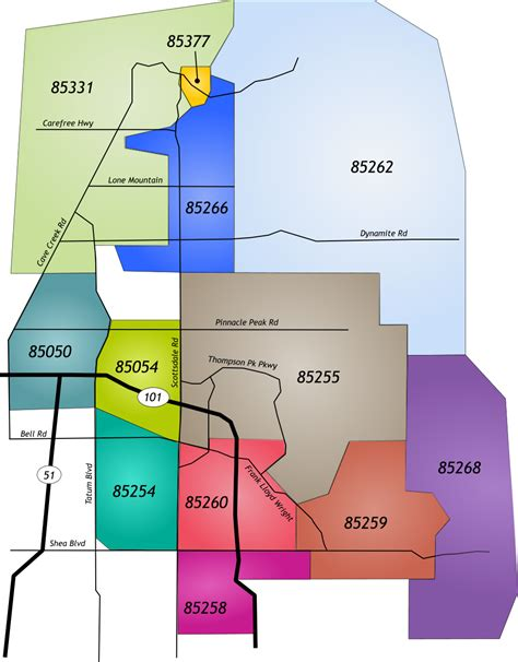 zip code map for phoenix north scottsdale zip codes sibbach