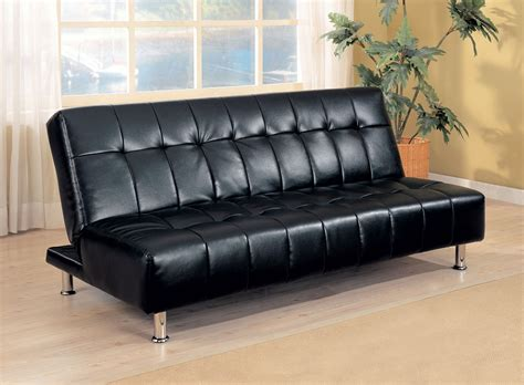 Futon Leather Sofa Bed Black Leatherette Tufted Sofa Bed Futon Caravana Furniture