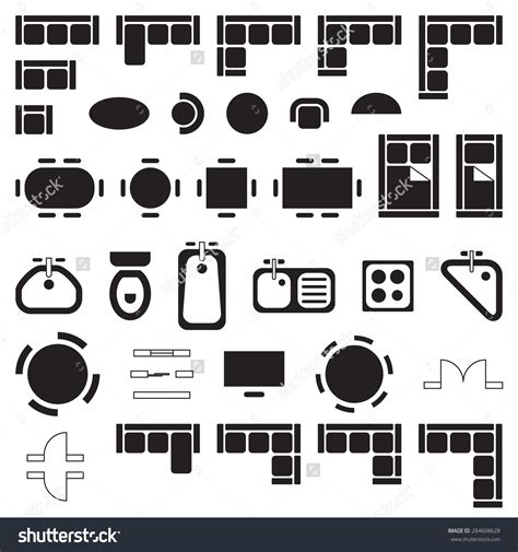clipart furniture floor plan floor plan symbols clip art 64