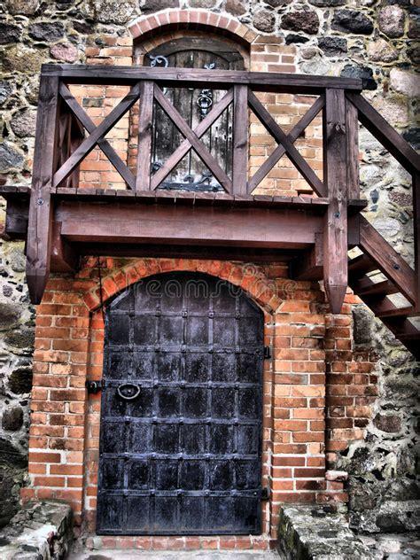 castle doors stock image image  antique knight