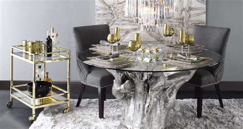 glass dining room furniture a perfect wow factor for dining room inspiration round sequoia dining table z