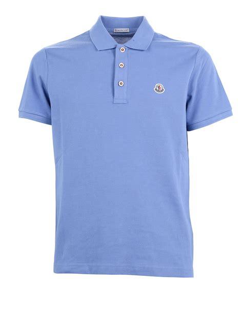 pique cotton polo shirt by moncler polo shirts ikrix